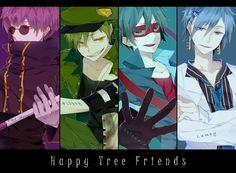 Tags: Sunglasses, Dagger, Four Males, Fingerless Gloves, Happy Tree Friends, The Mole (HTF)
