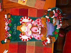 Ambers christmas stocking. Made from a kit by bucilla