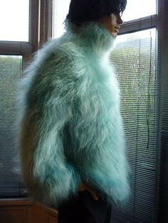 Mohairkitten Mohair Sweater Gros Pull Mohair, Mo Hair, Boys Sweaters, Cardigans, Red T, Angora Sweater, Kitten, Aqua, Fashion Outfits