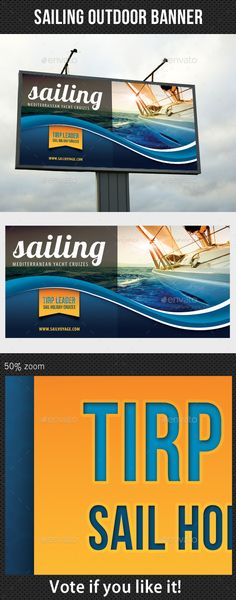 Sailing Yacht Trip Outdoor Banner — Photoshop PSD #banner #rollup • Available here → https://graphicriver.net/item/sailing-yacht-trip-outdoor-banner/8872594?ref=pxcr