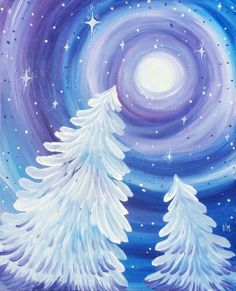 We host painting events at local bars. Come join us for a Paint Nite Party! We host painting events at local bars. Come join us for a Paint Nite Party! Christmas Canvas, Christmas Paintings, Christmas Art, Canvas Background, Background Colour, Winter Art Projects, Diy Projects, Winter Painting, Painting Art