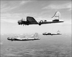 Boeing B-17s & B-29.