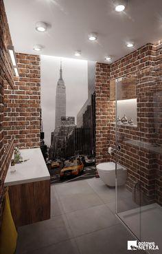 Łazienka New York - 5 m2 w stylu loft. W naszym sklepie projekt gratis