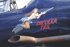 Checker Tail / Noorduyn AT-16 Harvard Mk IIB Military Art, Military History, Pin Up Girl Vintage, Aircraft Painting, Airplane Art, Nose Art, Aviation Art, Pin Up Art, Military Aircraft