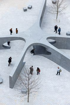 Collier Memorial Boston – Howeler + Yoon – Iwan Baan Monumental Architecture, Conceptual Architecture, Landscape Architecture, Landscape Design, Architecture Design, Landscape Structure, Memorial Park, Sparrows, Environment Design