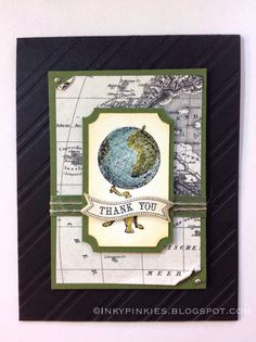 Masculine Thank You with Traveler set from Stampin' Up!
