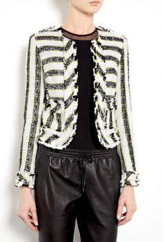 Stripe Tweed Jacket by MSGM