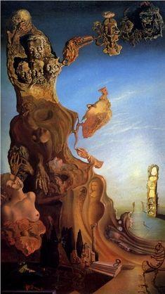 Salvador Dalí.Имперский монумент женщине-ребёнку, Гала (Утопическая фантазия).1928 г.