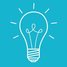 simple light bulb idea vector illustration