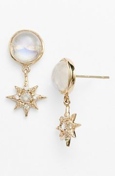 Anzie 'Aztec' Semiprecious Stone & Diamond Starburst Drop Earrings available at #Nordstrom