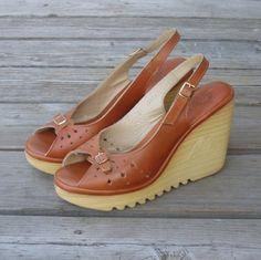 Peeptoe Cherokee Wedge Heels ....these were my FAVorite!