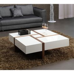 15 Awesome And Unique Furniture Ideas For Modern Living Room Design Modern Square Coffee Table, Walnut Coffee Table, Coffee Table With Storage, Coffee Table Design, Stylish Coffee Table, Centre Table Living Room, Center Table, Puzzle Design, Unique Furniture