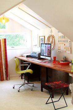AMH studio and I love that mini-quilt.