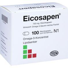 EICOSAPEN Weichkapseln:   Packungsinhalt: 100 St Weichkapseln PZN: 03218863 Hersteller: TRUW Arzneimittel GmbH Preis: 18,37 EUR inkl. 19…