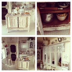 My shabby chic miniature kitchen 1:12 scale <3
