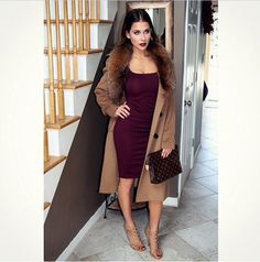 Fall Outfit - Dress and coat Passion For Fashion, Love Fashion, Fashion Outfits, Womens Fashion, Fashion Trends, Fall Winter Outfits, Autumn Winter Fashion, Classy Outfits, Cute Outfits
