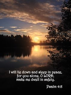 Thoughts from Another Home ©: Refreshing Peace: A Psalm 4 Devotional Bible Words, Bible Verses Quotes, Bible Scriptures, Psalms Quotes, Psalm 4 8, Morning Verses, God Prayer, Favorite Bible Verses, Verse Of The Day