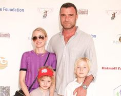 Naomi Watts & Leiv Schreiber & boys at harity event in L.A., March 28, 2015