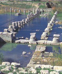 Letoon, Antalya - underwater ruins of Leto's