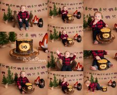 Two Sisters Photography// cake smash session, lumberjack cake smash, lumber jack theme, flannel, woodland Twin First Birthday, 1st Birthday Parties, Birthday Ideas, Cake Smash Photos, Boy Cake Smash, Lumberjack Cake, 1st Birthday Pictures, Woodland Cake, Woodland Theme