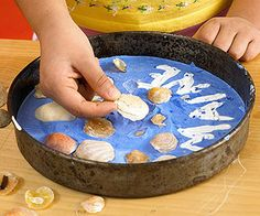 Kid's Creative Stepping-Stone:   Remember a special beach vacation with a cool stepping-stone for your garden. Instructions on another pin.