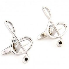 Musical C note - Silver #Cufflinks #cufflinkspalace