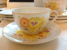 Totally Retro 1974 Denby Fine China Portugal Cup and Saucer