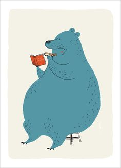 Shop for Animal Posters for Kids at L'Affiche Moderne. Illustration art prints by Dominique Le Bagousse Illustration Mignonne, Children's Book Illustration, Character Illustration, Bear Character, Character Design, Art D'ours, Bear Drawing, Animal Posters, Bear Art