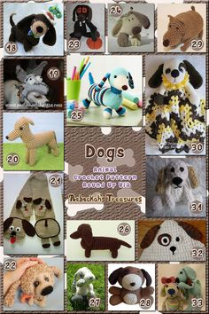 Dogs Part 1 | Animal Crochet Pattern Round Up for Hound Dogs via…