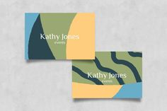 Abstract Business Card DIY Kit Digital Template Abstract | Etsy