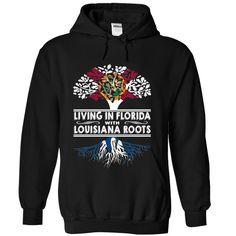 Living in Florida with Louisiana Roots qamsiclfrj T-Shirts, Hoodies. VIEW DETAIL ==► https://www.sunfrog.com/States/Living-in-Florida-with-Louisiana-Roots-qamsiclfrj-Black-Hoodie.html?id=41382