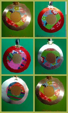 Postal de Nadal: boles amb cercles concèntrics