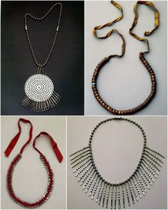 All diys all made of hardware Anni Albers, Beaded Necklace, Pendant Necklace, Neck Piece, Washers, Grosgrain Ribbon, Bobby Pins, Diys, Plating