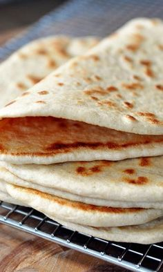 Homemade Flatbread (Greek Pocketless Pita)