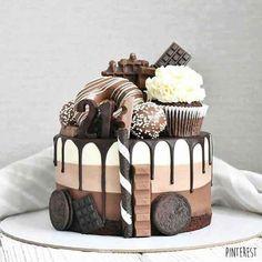Cheese Cake Birthday Sweets Recipe New Ideas Birthday Sweets, Cute Birthday Cakes, Beautiful Birthday Cakes, Birthday Ideas, Homemade Sweets, Homemade Hot Chocolate, Homemade Cakes, The Cheesecake Factory, Original Cheesecake Recipe