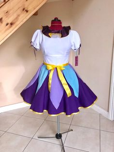 Potts Beauty and the Beast Inspired Short Sleeve Skater Dress Costumes For Sale, Group Costumes, Diy Costumes, Costume Ideas, Halloween Costumes, Diy Beauty And The Beast Costumes, Beauty And The Beast Diy, Disney Outfits, Disney Clothes