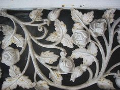iron work - Roses  http://www.superiorornamentalsupply.com/ornamental-aluminum-castings/rose/aluminum-castings-acro102.html
