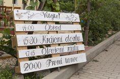 Wedding program rustic DIY