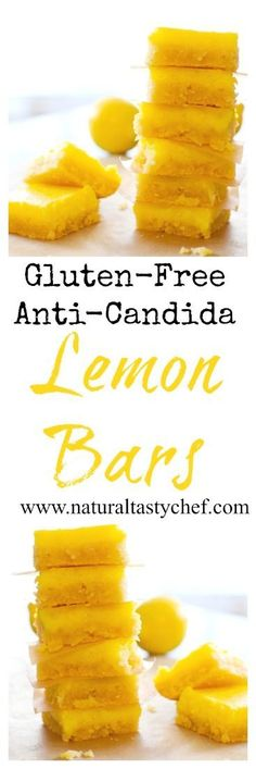 Candida Diet Lemon Bars that are perfectly sweet with a buttery, gluten-free crust and lemony filling. These bars are proof that being on a specialty diet. Anti Candida Diet, Candida Cleanse, Cleanse Diet, Diet Detox, Juice Cleanse, Healthy Cleanse, Stomach Cleanse, Detox Foods, Liver Cleanse