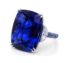 Martin Katz Sapphire & Diamond Ring