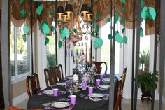 Maleficent Party - Dining in the enchanted forest #Maleficent