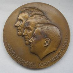 HENRY FORD MOTOR CO 1903-53 BRONZE MEDAL Francisci AFTER NORMAN ROCKWELL Signed  #MEDALLICARTCONY