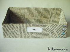 Made with newspapers, nice!