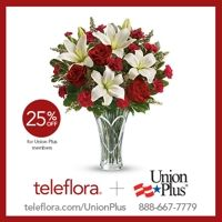 Impress that someone special this Valentine's Day and save 25% off the listed price with your Union Plus Flower Service discount! http://www.unionplus.org/blog/consumer-tips/5-most-popular-flowers-to-give-on-Valentine%E2%80%99s-Day