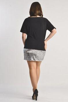 MDA912 Angelino Abiye Elbise - BLACKSILVER