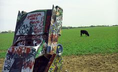 "Route 66 - Cadillac Ranch, Amarillo, Texas. ""The Fine Art Photography of Frank Romeo."""