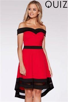 f19e17a482f0 Buy Quiz Bardot Dip Hem Dress from the Next UK online shop Gallakjoler