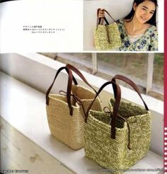 Вяжем сумки крючком. Knit crochet bags. ~ DIY Tutorial Ideas!