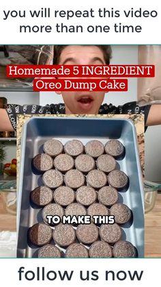 Dump Cake Recipes, Fun Baking Recipes, Sweet Recipes, Dessert Recipes, Easy Desserts, Delicious Desserts, Yummy Food, Tasty, Cupcakes
