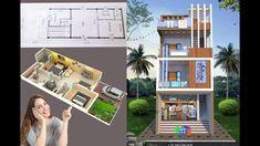 Front Elevation Designs, House Elevation, Village House Design, Village Houses, Modern Small House Design, House Map, House Front, Ground Floor, House Plans